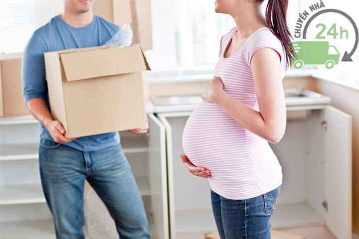 không chuyển nhà khi vợ mang bầu
