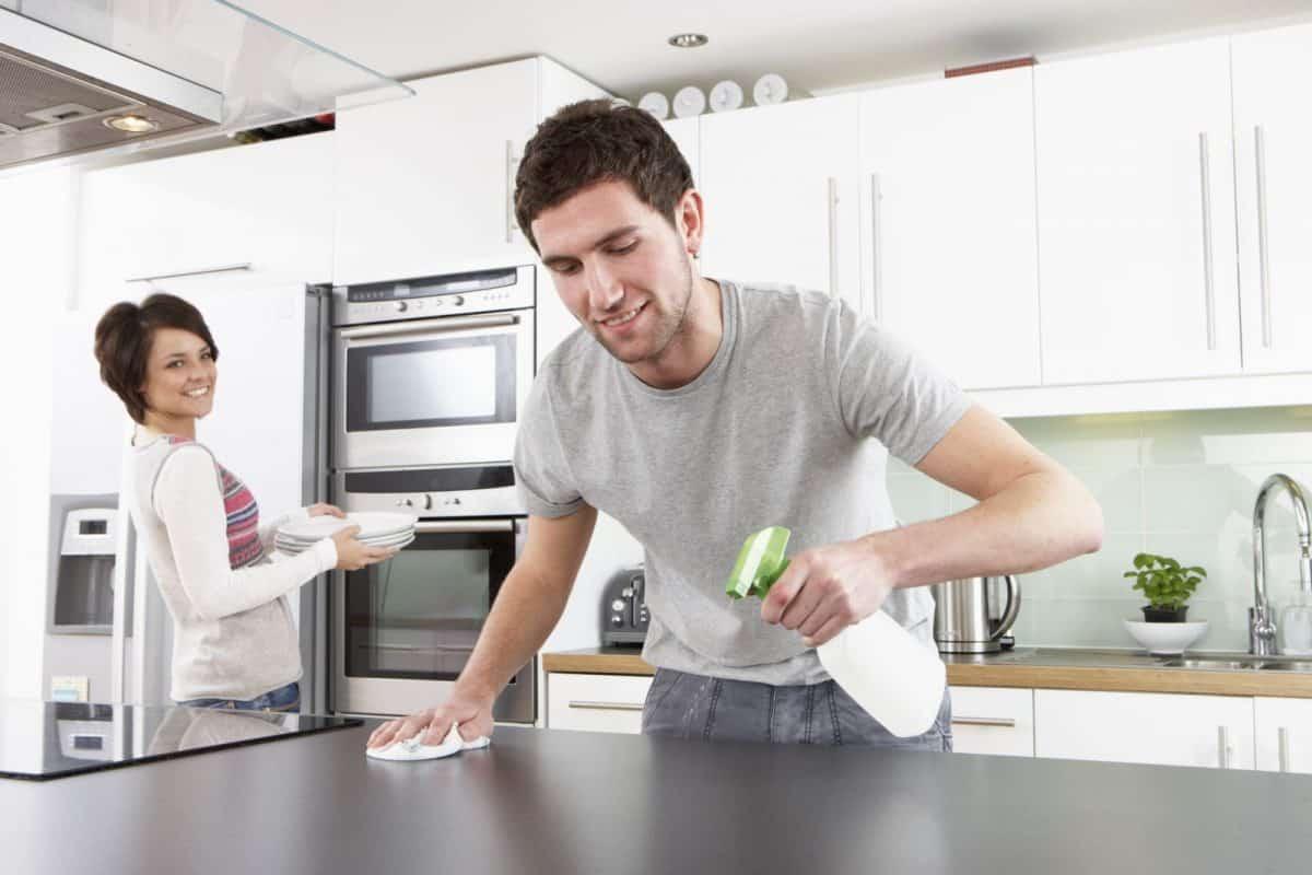 dọn dẹp nhà bếp gọn gàng