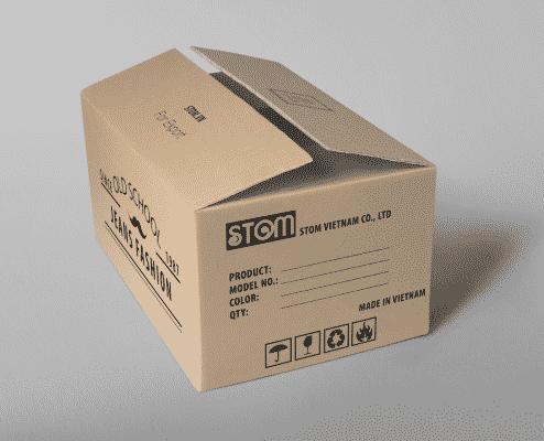Các ký hiệu trên thùng carton cần đầy đủ và chính xác.