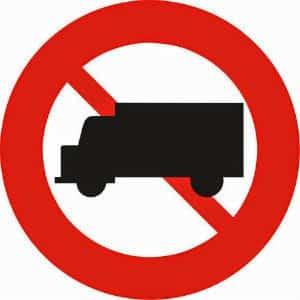 Biển cấm xe tải 5 tấn 1