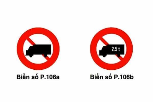 biển cấm xe tải 5 tấn 3
