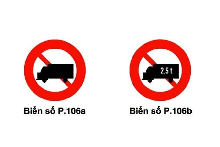 biển cấm xe tải 5 tấn