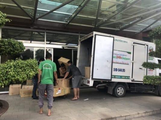 Quy trình nhận vận chuyển của Vận tải Chuyển Nhà 24H