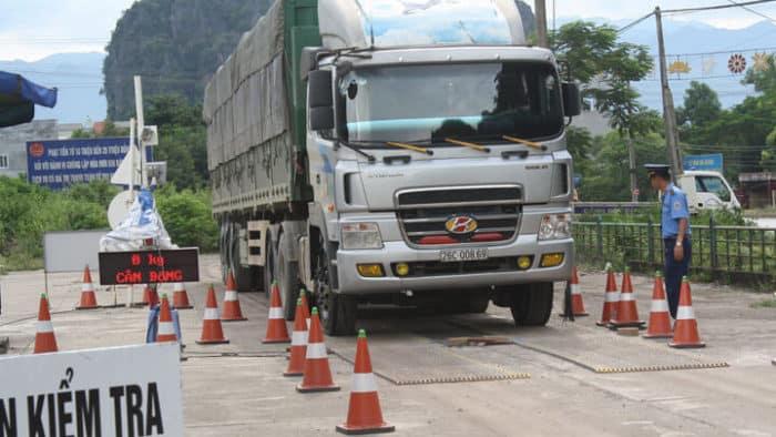 quy định về tải trọng xe