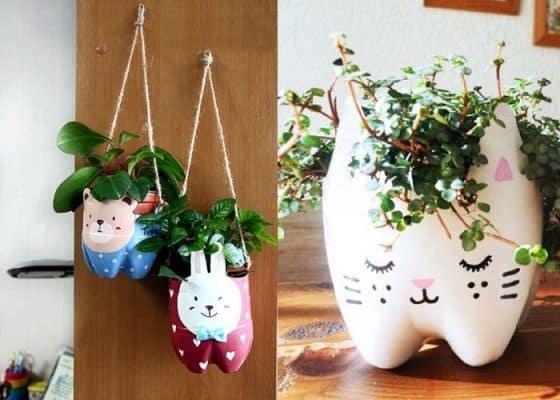 đồ handmade từ chai nhựa