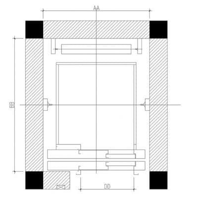 cách tính kích thước cửa thang máy