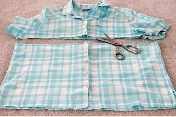 tái chế quần áo cũ thành túi treo tường 1