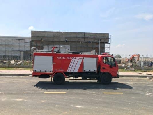 Xe chữa cháy được miễn phí bảo trì đường bộ