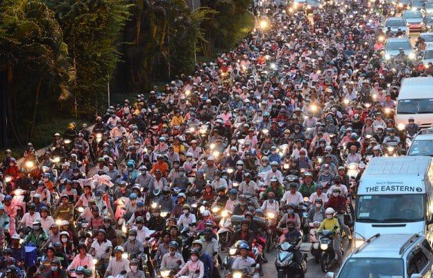 kẹt xe ở Sài Gòn