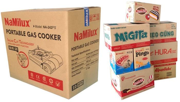 mẫu thùng carton in bằng công nghệ flexo